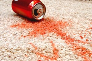 red stain in carpet